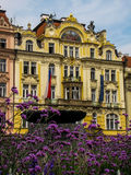 Baroque buildings in Prague Old Town Square Royalty Free Stock Photos