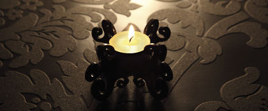 Baroque candle Royalty Free Stock Photos