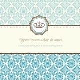 Baroque card Stock Image