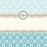 Baroque card Royalty Free Stock Image