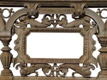 Baroque cast iron frame stock photos