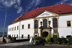 Baroque castle in Decin Royalty Free Stock Images