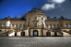 Baroque castle HDR. Solitude   baroque castle  from south Germany Royalty Free Stock Images