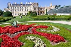 Baroque castle Lednice UNESCO, South Moravia, Czech republic Royalty Free Stock Images