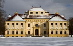 Baroque Castle Lustheim in the winter Stock Image