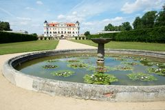 Baroque castle Milotice, Czech republic, stock photography