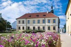 Baroque castle with park, historical town center of town Kladno,. CZECH REPUBLIC, KLADNO - SETP 18, 2015: baroque castle with park, historical town center of Royalty Free Stock Image