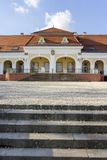 Baroque castle in Pomaz. Hungary on a winter day Royalty Free Stock Images