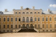 Baroque castle, Rundale, Latvia Royalty Free Stock Image