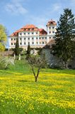 Castle Valec in western Bohemia, Czech republic. Baroque castle and town Valec in western Bohemia, Czech republic Royalty Free Stock Photos