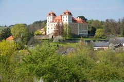 Castle Valec in western Bohemia, Czech republic. Baroque castle and town Valec in western Bohemia, Czech republic Royalty Free Stock Photography