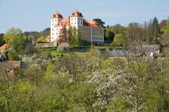 Castle Valec in western Bohemia, Czech republic. Baroque castle and town Valec in western Bohemia, Czech republic Stock Images