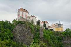 Baroque castle Vranov nad Dyji Stock Images