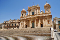 Baroque cathedral. Of noto in sicily Stock Image