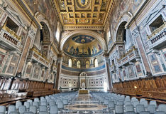 Baroque Cathedral. Breathtaking baroque interior of the Cathedral Stock Photo