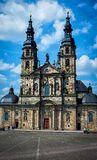 Baroque Cathedral in historic Fulda, Germany. Cathedral St. Salvator to Fulda High Cathedral to Fulda, Germany royalty free stock photos