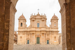 The baroque cathedral of Noto (UNESCO site in Sicily) Stock Photography