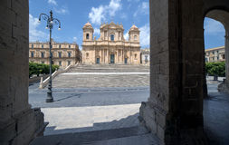 Baroque cathedral of Saint Nicholas, in Noto Royalty Free Stock Photos
