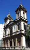 Baroque Catholic Church. In Brazil royalty free stock images