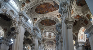 Baroque ceiling frescoes Royalty Free Stock Photos