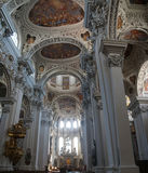 Baroque ceiling frescoes Royalty Free Stock Image