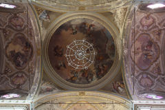 Baroque ceiling frescos Stock Photos