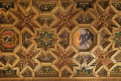 Baroque ceiling in Santa Maria in Trastevere, Rome royalty free stock photo