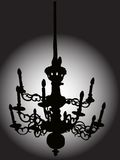 Baroque chandelier Stock Image