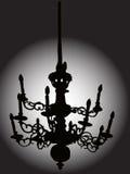baroque chandelier απεικόνιση αποθεμάτων