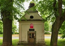 Baroque chapel Jablonec Mšeno housing estate Stock Photos