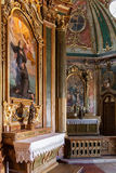 Baroque chapel in the Queluz National Palace, Portugal. Royalty Free Stock Photos