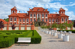 Baroque chateau Troja Stock Image