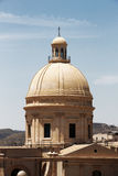Baroque chatedral of noto, detail of the dome Stock Images