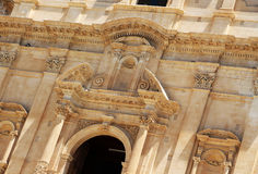 Baroque chatedral of noto, detail Royalty Free Stock Image