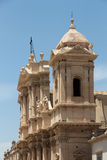 Baroque chatedral of noto, detail Royalty Free Stock Photography
