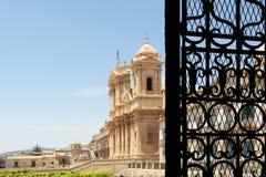 Baroque chatedral of noto, the facade Stock Photos