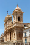 Baroque chatedral of noto, the facade Royalty Free Stock Photo