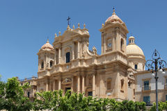 Baroque chatedral of noto, the facade Stock Photography