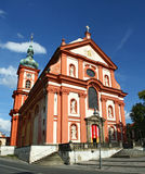 Baroque church. The baroque church in Stara Boleslav, Czech Republic stock image