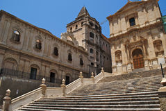 Baroque church. In noto in sicily Royalty Free Stock Photo