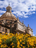 Baroque church. The baroque church of Badia di Sant'Agata in Catania Royalty Free Stock Photo