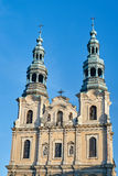 Baroque church with bell towers Royalty Free Stock Photography
