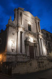 Baroque church in Catania Sicily Italy Stock Images