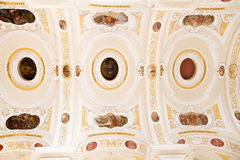 Baroque church ceiling with painting in Germany Stock Photos