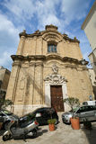 Baroque Church in the center of Bari, Italy Royalty Free Stock Image