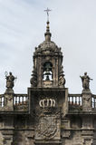 Baroque church facade. Baroque facade of the Church of San Fructuoso (Santiago de Compostela, Spain Stock Photo