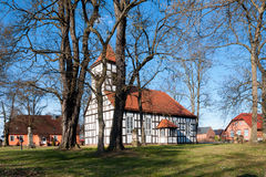 The baroque church of Grunow, Germany Royalty Free Stock Photo