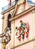 Baroque church in historic city Ludwigsburg, Germany. Baroque church on market square in historic city of Ludwigsburg, near Stuttgart, Germany Stock Photos
