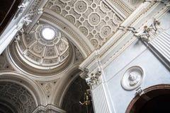 Baroque Church interior, Caltagirone, Sicily Royalty Free Stock Photo