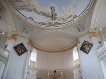 Baroque church interior Stock Image